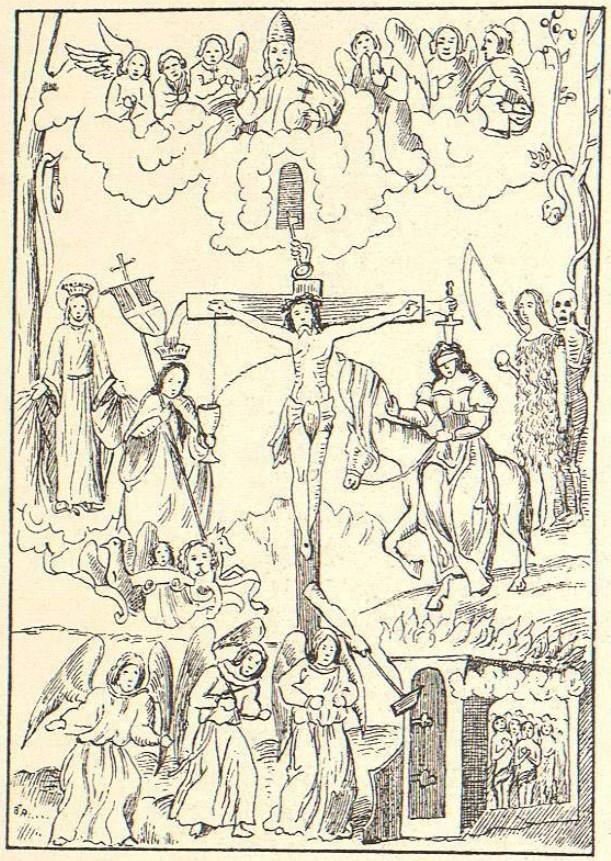 Croquis d'une fresque allegorique de Prunecken (Tyrol) XVIème siècle