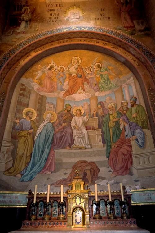 Recouvrement de Jésus au temple