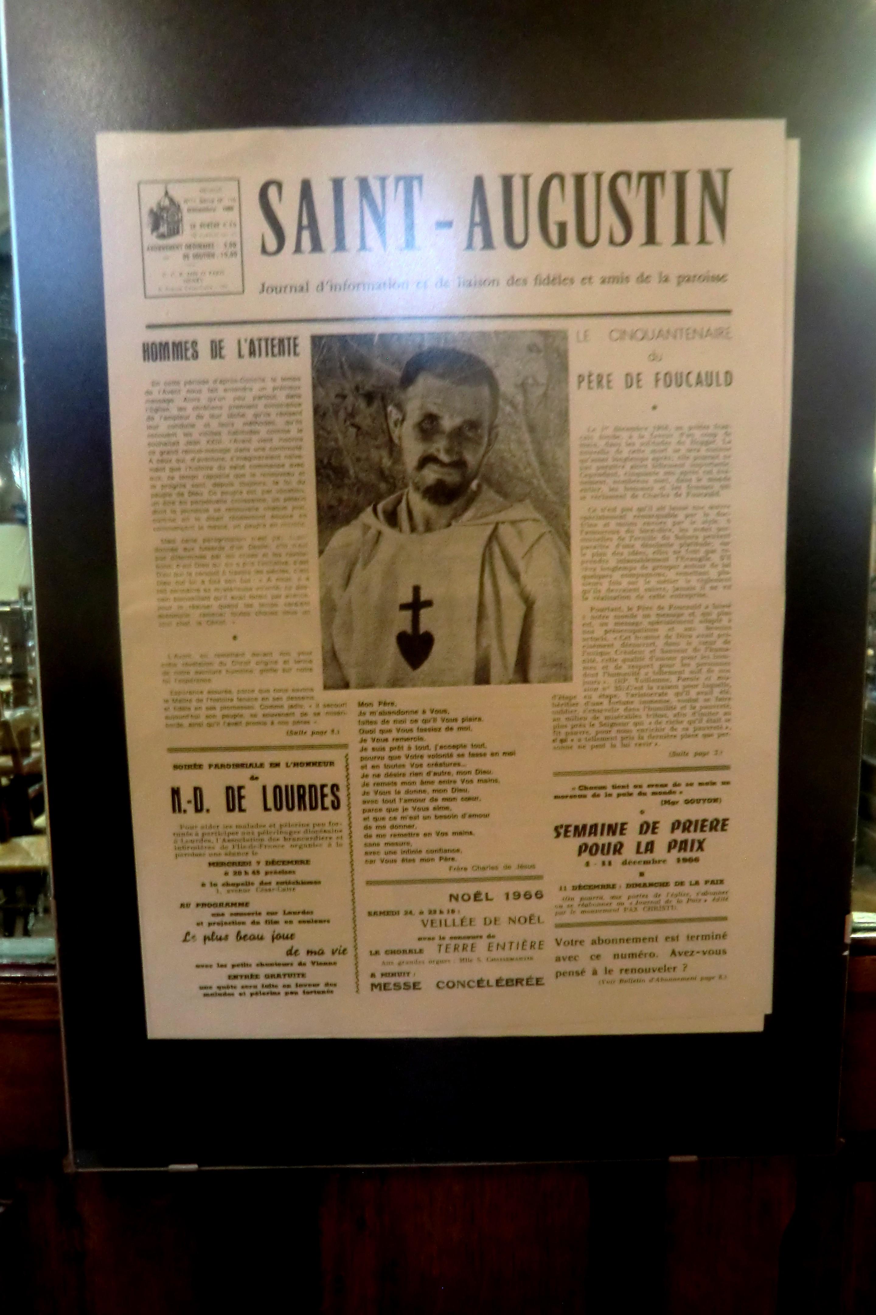 Charles de Foucauld - article paru à l'occasion du cinquantenaire de son martyre