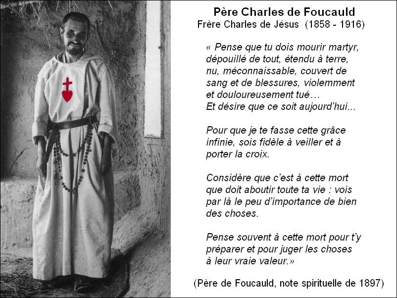 Frère Charles de Jésus, note spirituelle de 1897