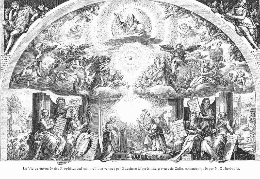La Vierge entourée des Prophètes qui ont prédit sa venue
